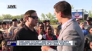 Oakland County and Macomb County Sheriff Offices play ball for Sheriff PAL kids - Video