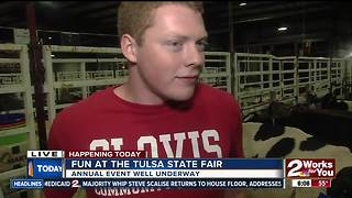 OSU students showcasing cattle at Tulsa State Fair - Video