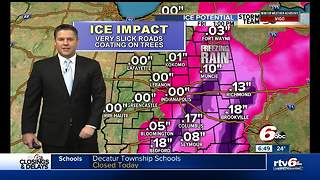 Timeline for the rest of Friday's winter storm - Video