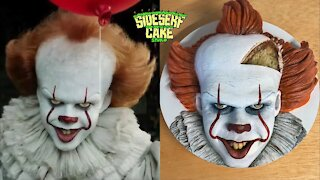 Terrifying hyperrealistic Pennywise the Clown cake