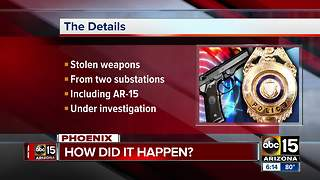 Police weapons stolen from vehicles at substations - Video