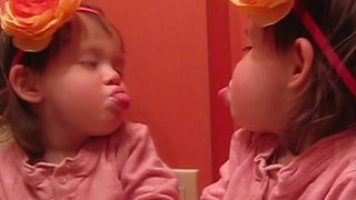 """""""Silly Toddler Sticks Her Tongue Out"""""""