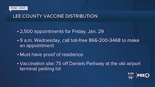 Local vaccine appointments open up