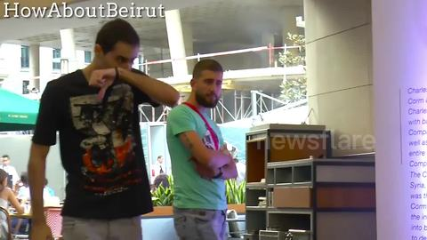 Pranksters startle unsuspecting passers-by with sneeze gag