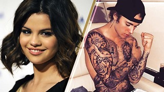 Selena Gomez REACTS to Justin Bieber's Tattoo Covered Body - Video