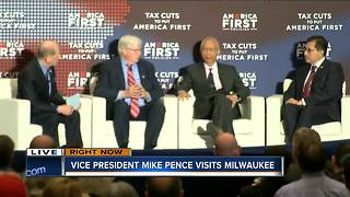 Vice President Mike Pence visits Milwaukee - Video