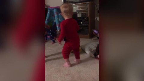 Adorable Toddler Girl Shakes Her Butt To