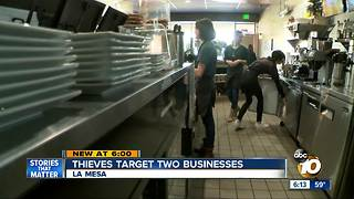 Thieves target two businesses