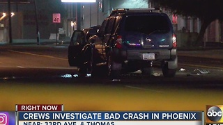 Five people hospitalized after car crash in Phoenix