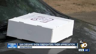 San Diegans show firefighters appreciation - Video