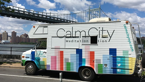 "Mobile Meditation Studio Is Helping Busy New Yorkers Have A ""Calmer"" Day!"