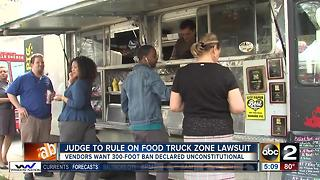 Judge to rule on food truck ban lawsuit - Video