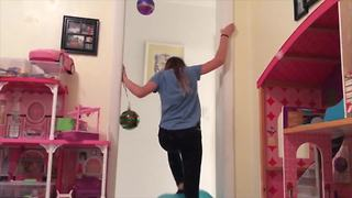 Hilarious Woman Falls Off Exercise Ball - Video