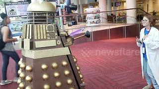 Dalek from 'Dr Who' makes appearance at Denver Comic Con - Video