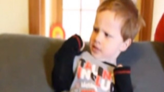 Toddler Boy Finds Woman's Actions To Be Rude - Video