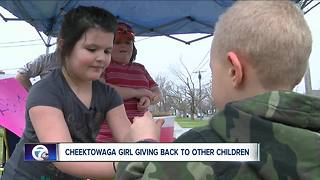 Cheektowaga girl turning lemons into lemonade - Video