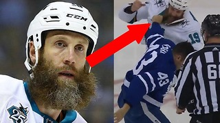 OUCH! Joe Thornton Gets His Beard RIPPED Off During Fight with Nazem Kadri - Video