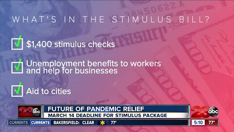 The future of pandemic relief, March 14 deadline for stimulus passage