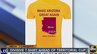 Divisive T-shirt released ahead of Territorial Cup - Video