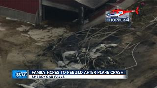 Sheboygan Falls family says entire farm could have been destroyed in plane crash - Video
