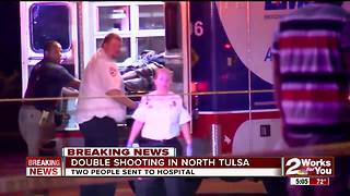 Two people sent to hosptial after double shooting in North Tulsa - Video