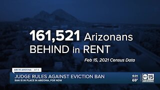Judge rules against eviction ban as many struggle to pay rent