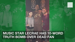 Music Star Lecrae Has 10-Word Truth Bomb over Dead Fan - Video
