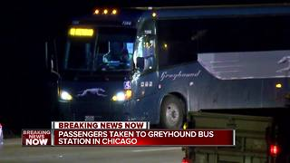 Man arrested after making threats on Greyhound bus - Video