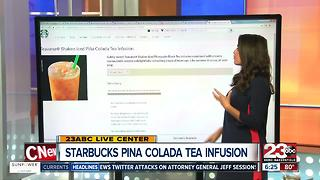 Starbucks new Pina Colada Tea - Video