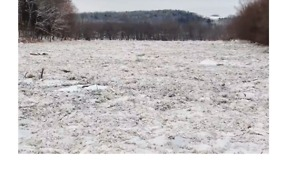 Susquehanna River Ice Jam Captured From the Air - Video
