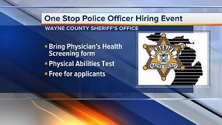 One-Stop police officer hiring event in Livonia on July 29, 2017 - Video