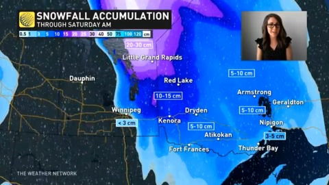 Bitter wind chills replace heavy snow across Manitoba and parts of Ontario