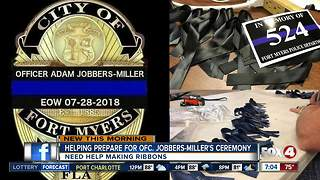 Group needs help preparing ribbons for officer's funeral