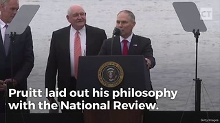 "Scott Pruitt Brings God Back Into the EPA With ""Creation"" Reform - Video"