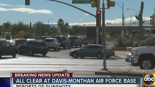 All clear given at Davis Monthan Air Force base after lockdown - Video
