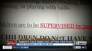 Parents to be fined for letting kids play unsupervised at Las Vegas extended stay - Video