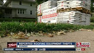 Roofing equipment reportedly stolen in Dundee - Video