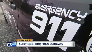 Sagamore Hills neighbor stops burglary-in-progress - Video