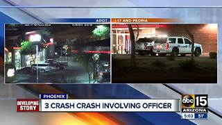 Three vehicles involved in crash near I-17 and Peoria - Video