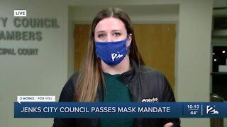 Jenks City Council passes mask mandate