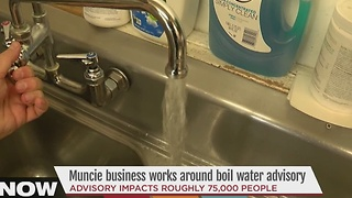 Muncie business works around boil water advisory - Video