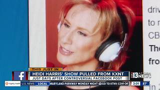 Heidi Harris show pulled from CBS Radio - Video