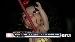 Controversial Halloween display in Summerlin neighborhood - Video