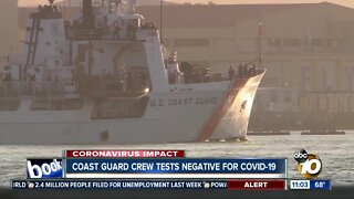 Coast guard cutter leaves San Diego as crew test negative for COVID-19