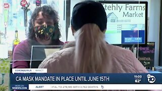 CA mask mandate staying in place until June 15th