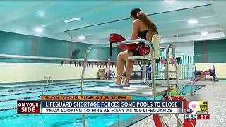 Lifeguard shortage forces some pools to close - Video