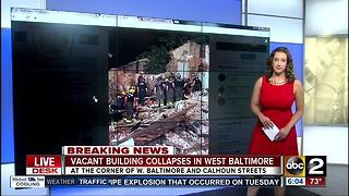 Vacant building collapses in west Baltimore - Video