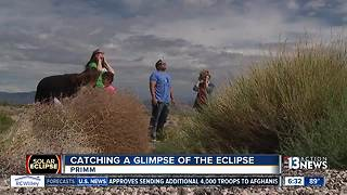 Las Vegans drive to Primm to catch view of eclipse - Video