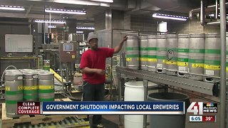 Government shutdown impacting local breweries