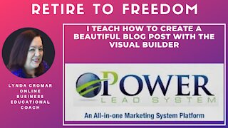 I Teach How To Create A Beautiful Blog Post With The Visual Builder